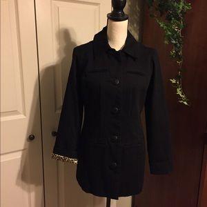 Chico's black denim jacket size 0 (4)